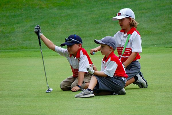 junior players on the course